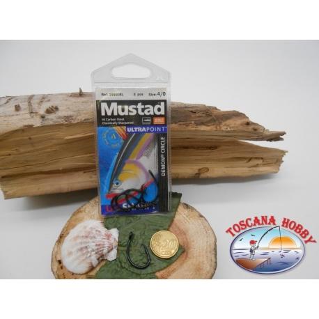 1 Pack de 5 uds Mustad autoferranti cod.39950BL sz.4/0 corona FC.A264B