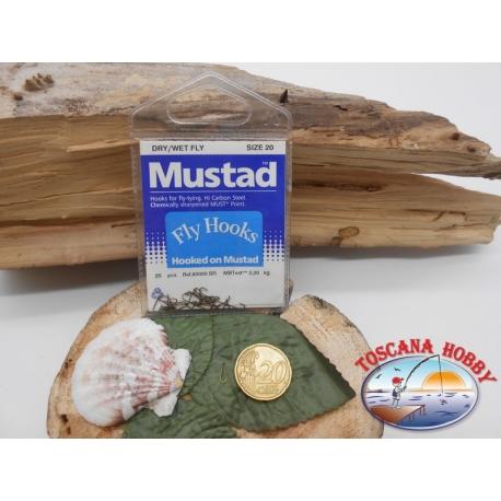 1 beutel mit 25 st. angelhaken Mustad cod.80000BR sz.20 FC.A336