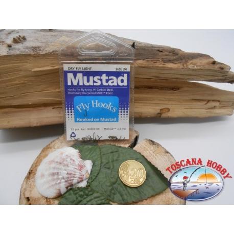 1 beutel mit 25 st. angelhaken Mustad cod.80000BR sz.24 FC.A337
