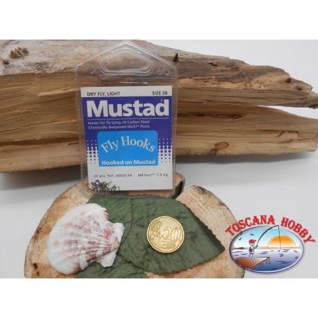 1 beutel mit 25 st. angelhaken Mustad cod.80000BR sz.26 CF.A338