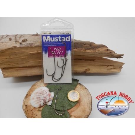 1 beutel mit 5 stk. angelhaken Mustad cod.39121BLN sz.4/0 FC.A341