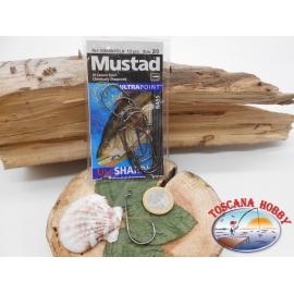 1 paquet (12 pcs Mustad tordu, avec œillet de la morue.32808NPBLN sz.2/0 FC.A361