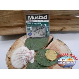 1 beutel 10 stk. angelhaken Mustad, palette cod.90339BNL sz. 12 CF.A370