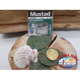 1 beutel 10 stk. angelhaken Mustad, palette cod.90339BNL sz. 16 CF.A371