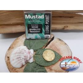 1 beutel 10 stk. angelhaken Mustad, palette cod.90340 sz. 18 wiederhaken FC.A372