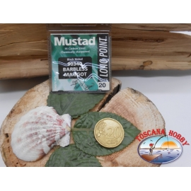 1 sachet de 10 pcs Mustad, une palette de morue.90340 sz. 20 sans ardillon FC.A373