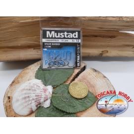 1 bustina 10 pz ami Mustad, paletta cod.10655 sz. 12  FC.A379