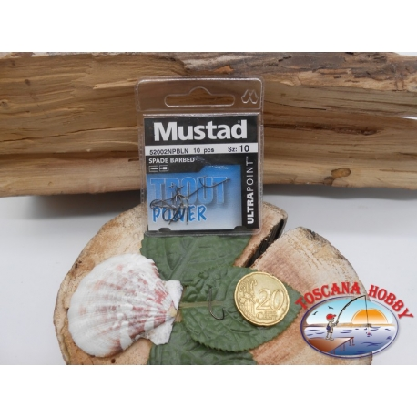 1 beutel 10 stk. angelhaken Mustad, palette cod.52002NPBLN sz. 10 FC.A383