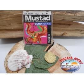 1 beutel 10 stk. angelhaken Mustad, palette cod.5933BR sz. 12 CF.A385