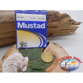 1 beutel 10 stk. angelhaken Mustad, palette cod.496 sz. 12 CF.IN 231B