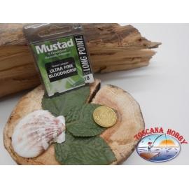 1 beutel 10 stk. angelhaken Mustad, schaufel, green, cod.LP240 sz. 18 FC.A393