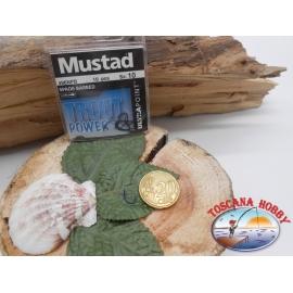 1 bolsa de 10 uds Mustad, scoop, azul, cod.496NPB sz. 10 FC.A400