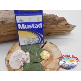 1 bolsa de 10 uds Mustad, scoop, de plata, ref.287N sz. 8 FC.A401