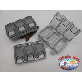 1 caja de Meiho con 3 compartimentos, 11,5x7x2cm FC.B7