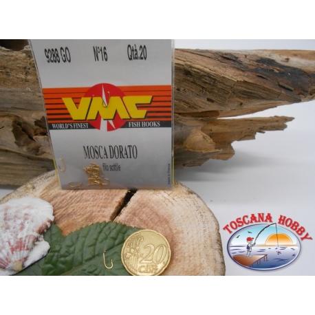 1 päckchen mit 20 stück angelhaken VMC, vergoldet, öse, cod.9288GO sz.16 CF.A422