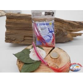 1 pack de 2 clous, rose sz.L pour la pêche à la traîne côtière de 6cm avec des plumes FC.T6