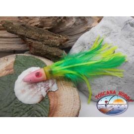 Head with polipetto, curry mini green, cod.R09-1V, Ishus 8cm, 17gr FC.T12
