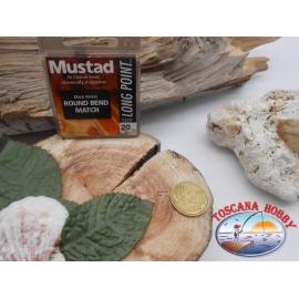 1 beutel 10 stk. angelhaken Mustad, schaufel, black, cod.LP160 sz. 20 FC.A387