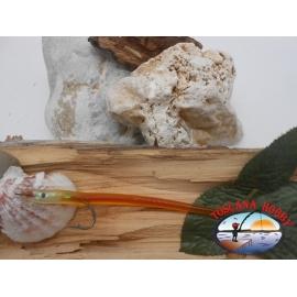Esca artigianale 14cm col.orange, amo d'acciaio cod.74005 Mustad sz.2/0 FC.R280