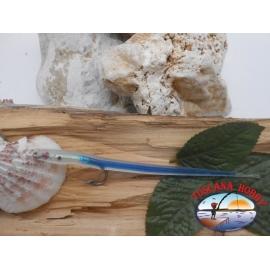 Esca artigianale 14cm col.blu, amo d'acciaio cod.74005 Mustad sz.2/0 FC.R283