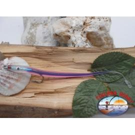 Esca artigianale 14cm col.viola, amo d'acciaio cod.74005 Mustad sz.2/0 FC.R287