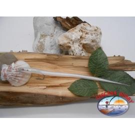 Esca artigianale 20cm col.white, amo d'acciaio cod.74005 Mustad sz.2/0 FC.R291