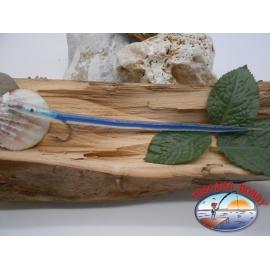 Esca artigianale 20cm col.blu, amo d'acciaio cod.74005 Mustad sz.2/0 FC.R293