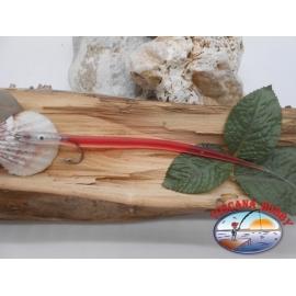Bait craft 20cm col.red, I love steel cod.74005 Mustad sz.2/0 FC.R294
