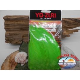 Confezione da circa 100 piume 5gms  Yo-Zuri cod. Y232-CH verde-chartreuse FC.T25