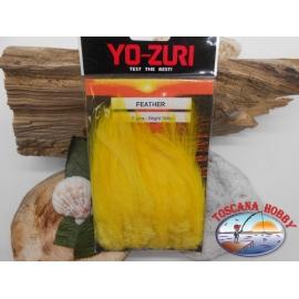Confezione da circa 100 piume 5gms Yo-Zuri cod. Y232-BY bright-yellow FC.T27