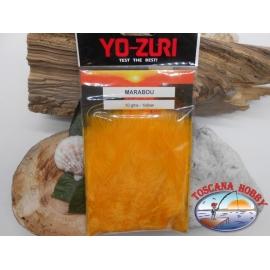 Confezione da circa 100 piume marabou 10gms  Yo-Zuri cod. Y234-Y yellow FC.T28