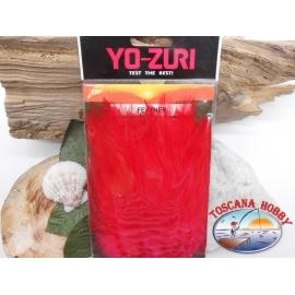 Pack de aprox 100 plumas de marabú 10gms Yo-Zuri cod. Y232-R rojo FC.T30