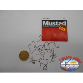 """1 paquete de 25 pcs Mustad """"gran cantidad"""" de la serie Ninfa sz.12 FC.A511"""