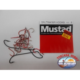 "1 pack of 25 pcs Mustad ""great deal"" series saltwater hooks sz.6 FC.A515"