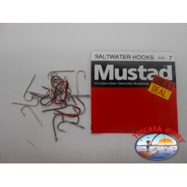 "1 pack of 25 pcs Mustad ""great deal"" series saltwater hooks sz.7 FC.A516"