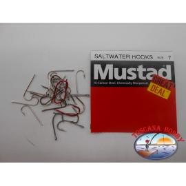 "1 packung 25pz angelhaken Mustad ""great deal"" - serie saltwater hooks sz.7 FC.A516"