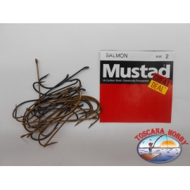 """1 pack of 25 pcs Mustad """"great deal"""" series Salmon sz.2 FC.A520"""