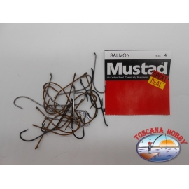 """1 pack of 25 pcs Mustad """"great deal"""" series Salmon sz.4 FC.A521"""