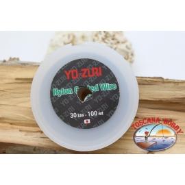 El cable de acero sello de Yo-zuri 100m - 30lbs FC.F33