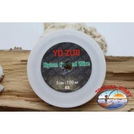 El cable de acero sello de Yo-zuri 100m - 5lbs FC.F35