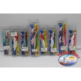Lote de 8 gambas surtido de Yo-Zuri tamaño 2.5-3.0-3.5 de plástico y de seda. FC.AR693
