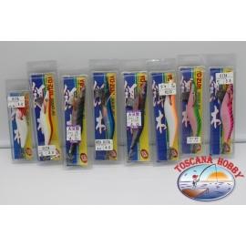 Lote de 8 gambas surtido de Yo-Zuri tamaño 3.0-3.5-4.0 de plástico y de seda. FC.AR697
