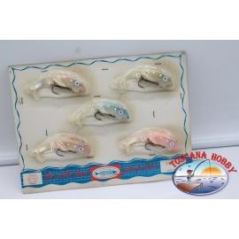 1 pack de 5 plástico cebos y señuelos para la barracuda. FC.BR298