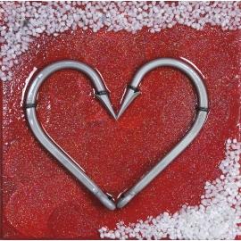 Quadro cuore rosso dimensioni 20x20. QR3
