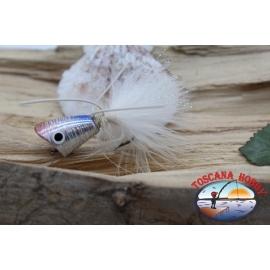 Popperino pour la pêche à la mouche, Panther Martin,2cm, col.holographique perle.FC.T41