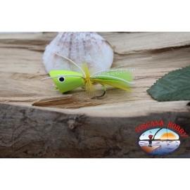 Popperino pour la pêche à la mouche, Panther Martin,2cm, col.chartreuse/jaune.FC.T42