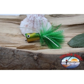 Popperino per pesca a mosca,Panther Martin,2cm, col.hol. green frog eye.FC.T43