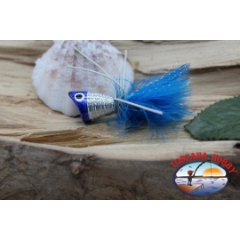Popperino for fly fishing,Panther Martin,2cm, col.holographic blue head.FC.T45