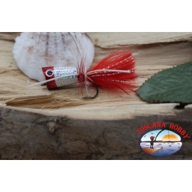 Popperino for fly fishing,Panther Martin,2cm, col.holographic red head.FC.T46