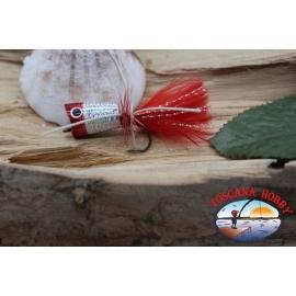 Popperino para la pesca con mosca,la Pantera Martin,2cm, col.holográfico rojo en la cabeza.FC.T46